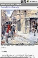 Screenshot of Works of Charles Dickens