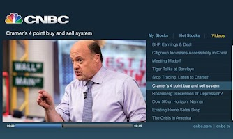 Screenshot of CNBC Real-Time for Google TV