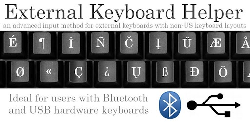 External Keyboard Helper Pro. A non visible soft keyboard (Input Method) intended to be used with hardware Bluetooth and USB keyboards. It automatically brings up the Input Method dialog when Bluetooth keyboard connects or disconnects (on some devices this can also be made to work with USB keyboards).