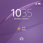 XPERIA™ Theme: Soft Purple