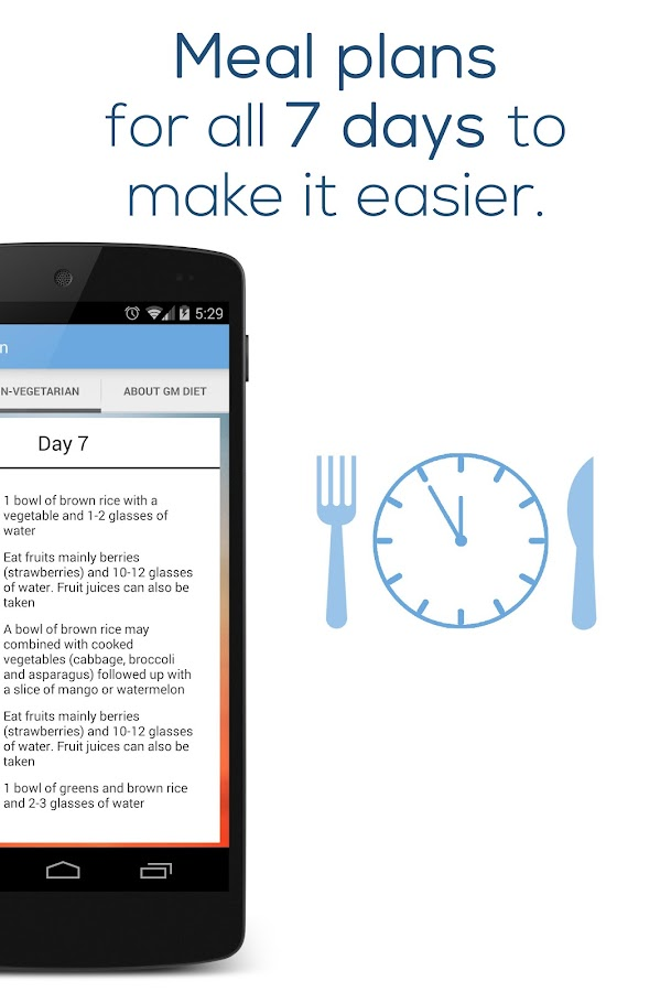 GM Diet Plan - screenshot