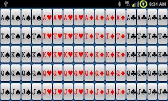 Screenshot of CardCounter for Single/Double