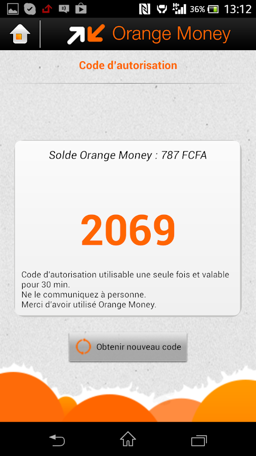 Orange Money- screenshot