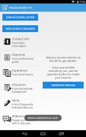 Screenshot of Resume Builder Pro