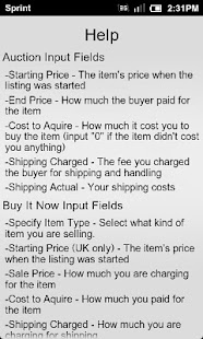 Calculator for eBay US & UK - screenshot thumbnail