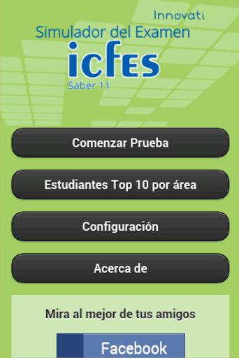 Simulador Examen ICFES 2.1.1 screenshots 1