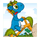 dino gizmo rush bike race icon