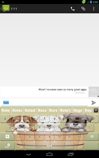 無料个人化Appの甘い子犬キーボード|記事Game