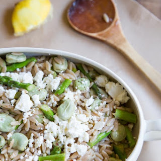 Fava Bean and Aspragus Orzo Pasta Salad