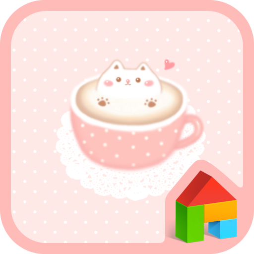 個人化必備App|cat latte dodol theme LOGO-綠色工廠好玩App