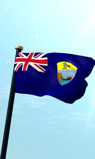 聖赫勒拿島,阿森松島和特里斯坦達庫尼亞旗3D免費動態桌布