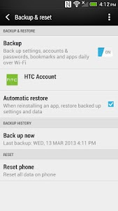 HTC Backup screenshot 2