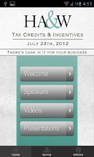 HA&W: Tax Credits & Incentives- screenshot thumbnail