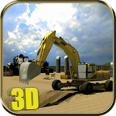 Heavy Excavator Simulator Sand