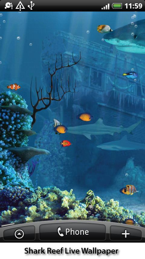 Shark Reef Live Wallpaper - screenshot