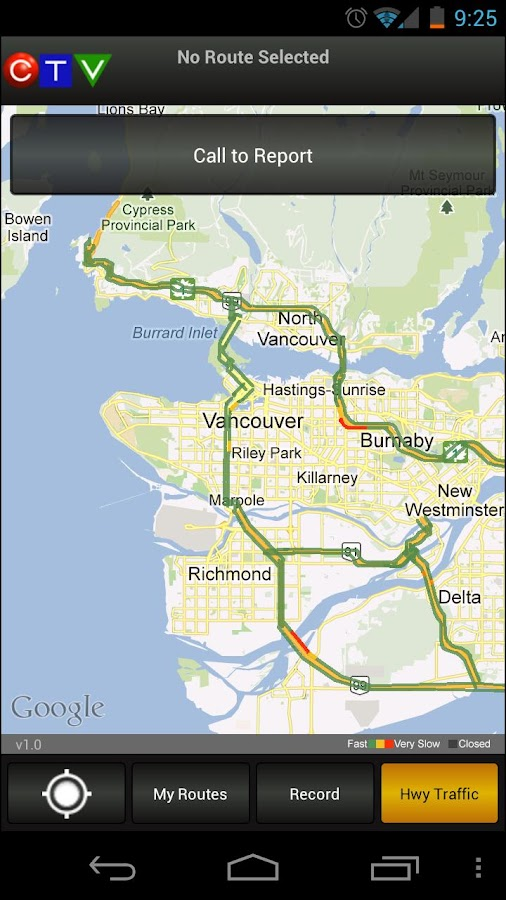 CTV Morning Live Traffic - screenshot