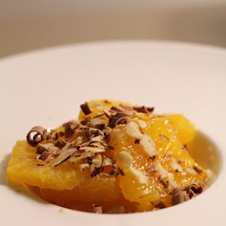 Gourmet Orange Salad with Almonds and Chocolate Chips