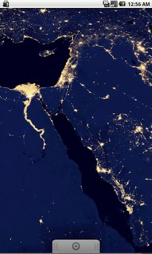 Earth At Night Middle East LWP