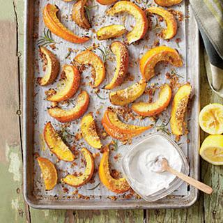 Parmesan-Rosemary Pumpkin Wedges