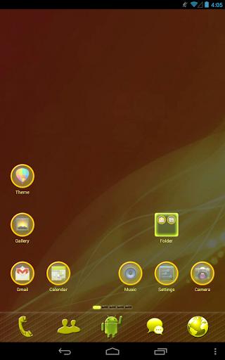 Yellow Light GO Launcher Theme
