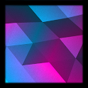 Animated,3D,colored triangles icon