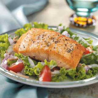 Salmon Fillets on Greens.
