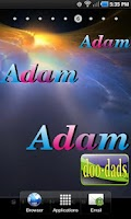 Screenshot of Adam doo-dad