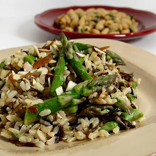 Brown and Wild Rice with Asparagus