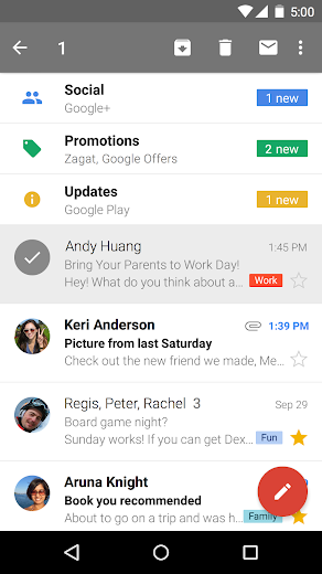 Screenshot 3 for GMail's Android app'