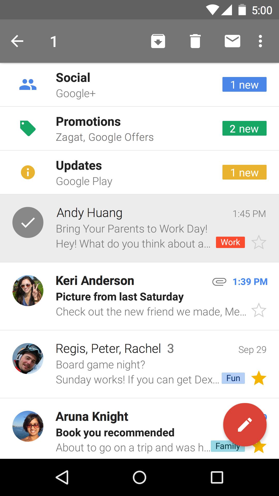 Gmail screenshot #4