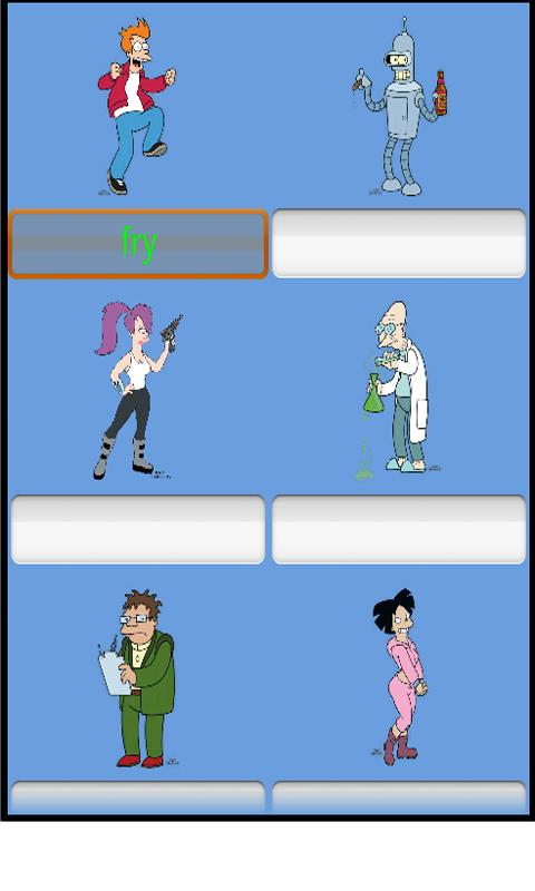 Futurama guess who? - screenshot