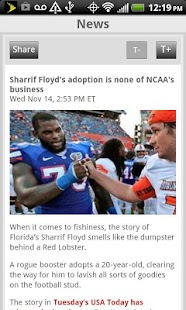 Sporting News NCAA Football - screenshot thumbnail