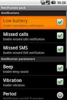 Screenshot of Notification pack