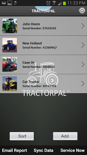 TractorPal Ag Shop Log