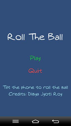 Tilt To Roll The Ball
