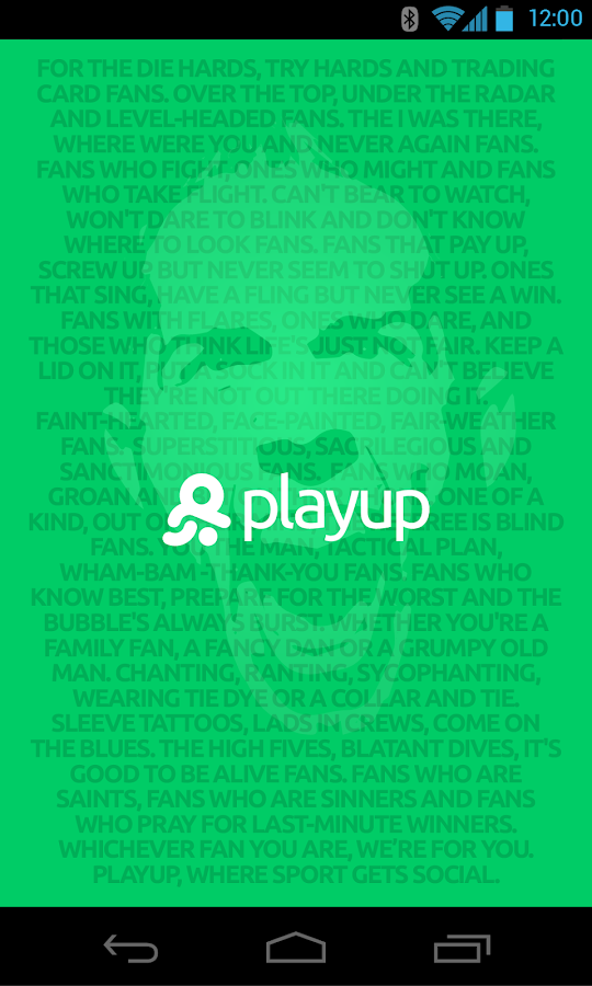 PlayUp- screenshot
