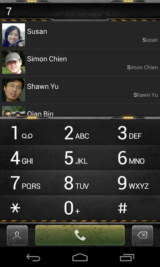 exDialer Steel Theme- screenshot
