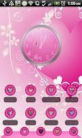 Screenshot of THEME - Pink Heart Halo