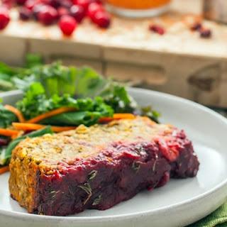 Cranberry & Maple Glazed Lentil Loaf
