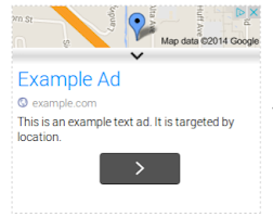 A location extension ad on the Google Display Network (closed)