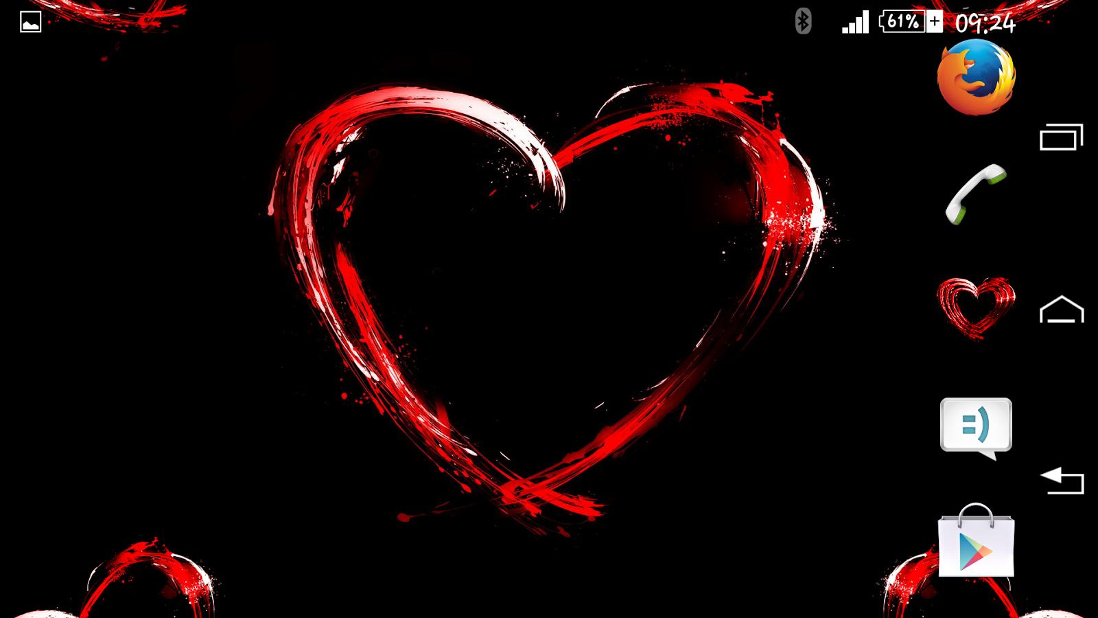 Google themes hearts - Hearts Red Xperien Theme Screenshot