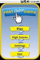 Screenshot of Fast Clicker Game
