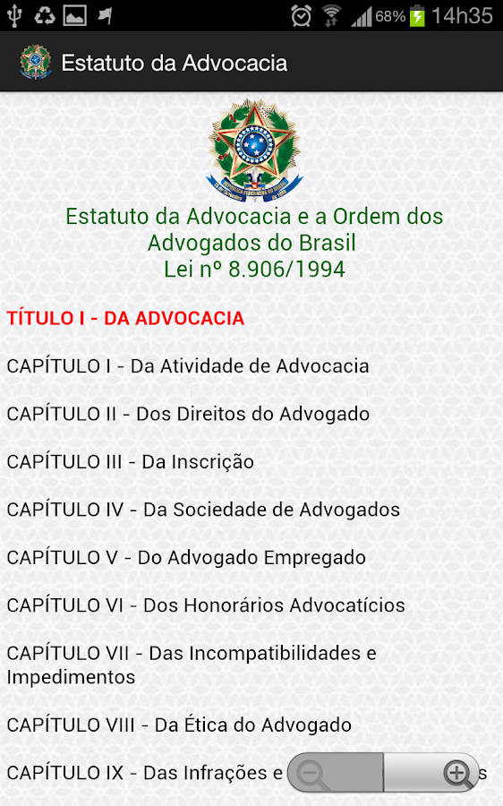 Estatuto da Advocacia - OAB - screenshot