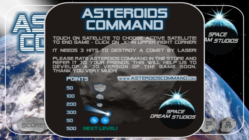 Asteroids Command - screenshot