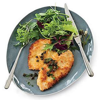 Panko-Coated Chicken Schnitzel.