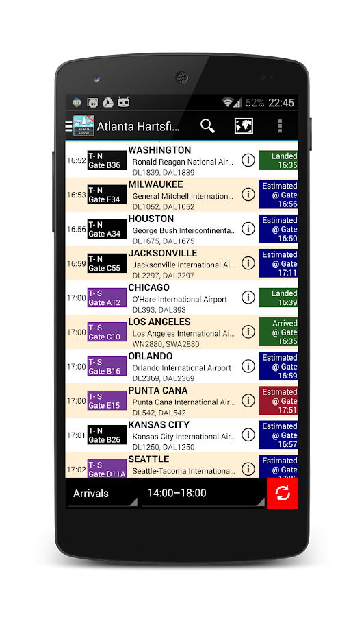 Atlanta Airport Flights ATL - screenshot