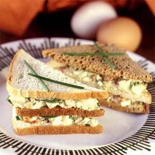 Egg Salad Club Sandwiches.