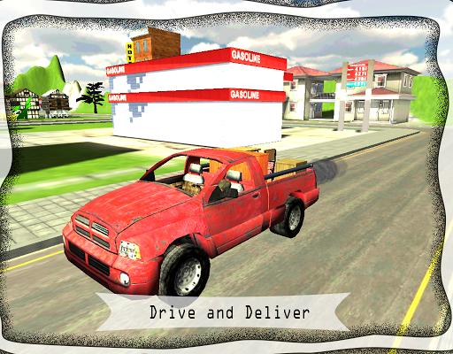 快遞卡車辛3D免費