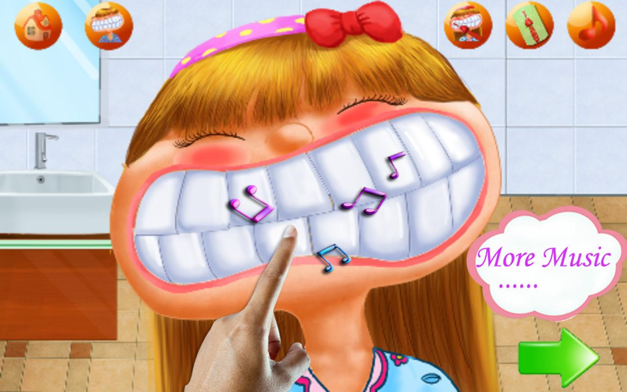 Netter zahnarzt: zahnbürste - screenshot