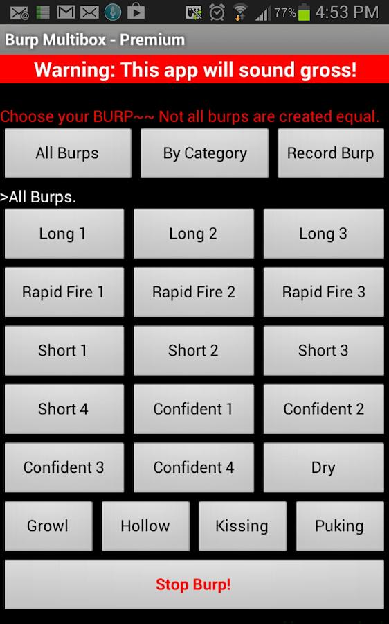 Burp Burp Multi - FREE burp - screenshot